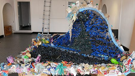Jilly Evans, artist and Box Office Supervisor at Turner Sims, exhibits 'Wave' at Southampton Boat Show